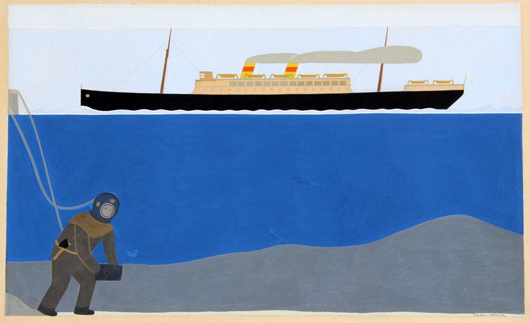 de duiker en het schip- Peter Alma