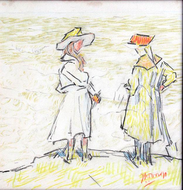 Twee figuren op een duin- Jan Toorop