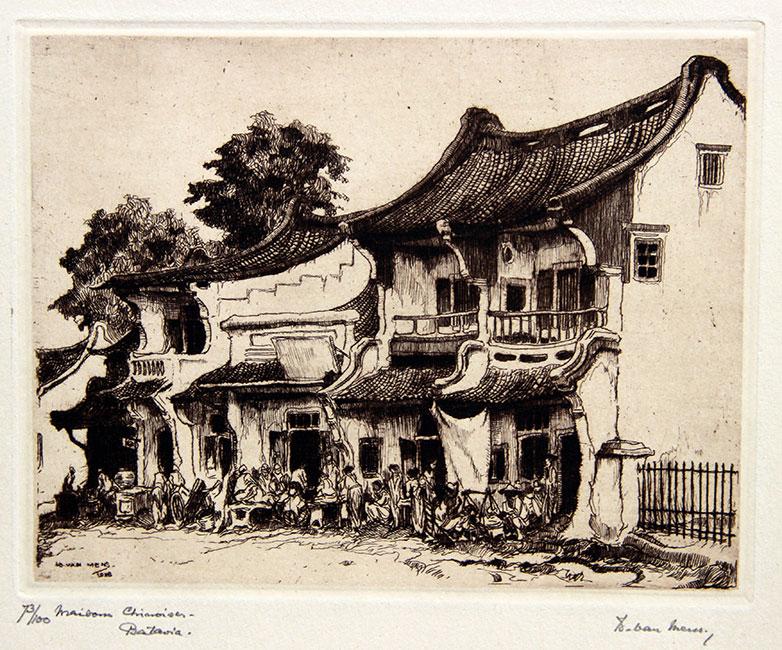 Maisons Chinois Batavia / Chinese houses in Batavia- Is. ( Isidore )  van Mens