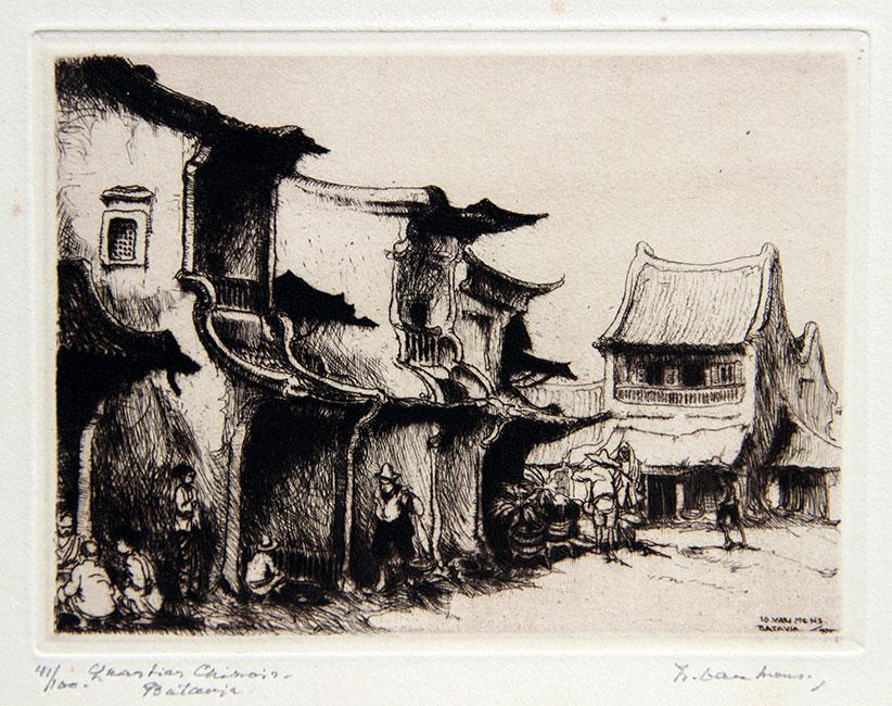 Chinese quarter Batavia /  Quartier Chinois Batavia- Is. ( Isidore )  van Mens