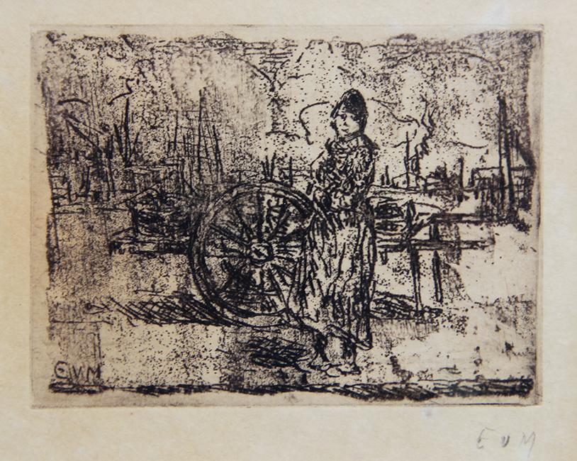 vrouw in de Antwerpse haven- Eugheen van Mieghem