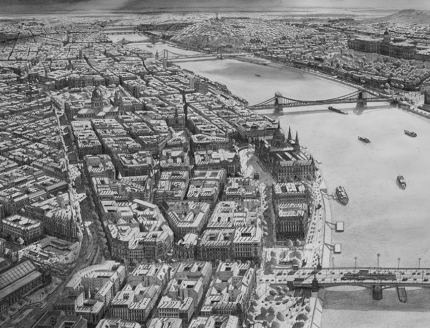 Uitzicht op Budapes vanuit het Noorden / View of Budapest from the North- Stefan Bleekrode