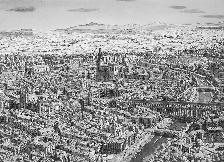 Imaginaire stad op de Meseta in midden Spanje / Imaginary city in central Spain- Stefan Bleekrode