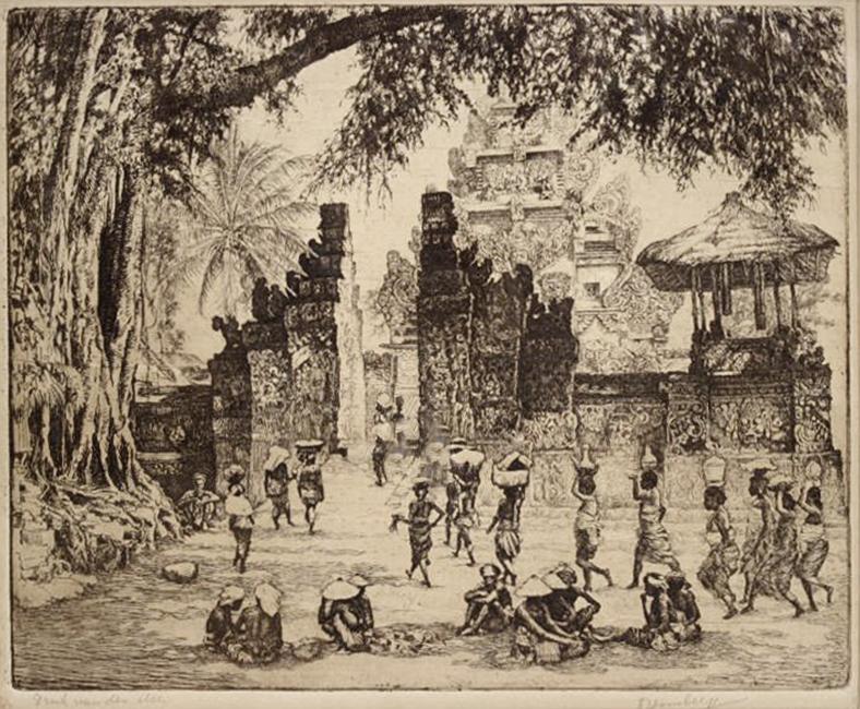 Tempel op Bali- Dirk Homberg
