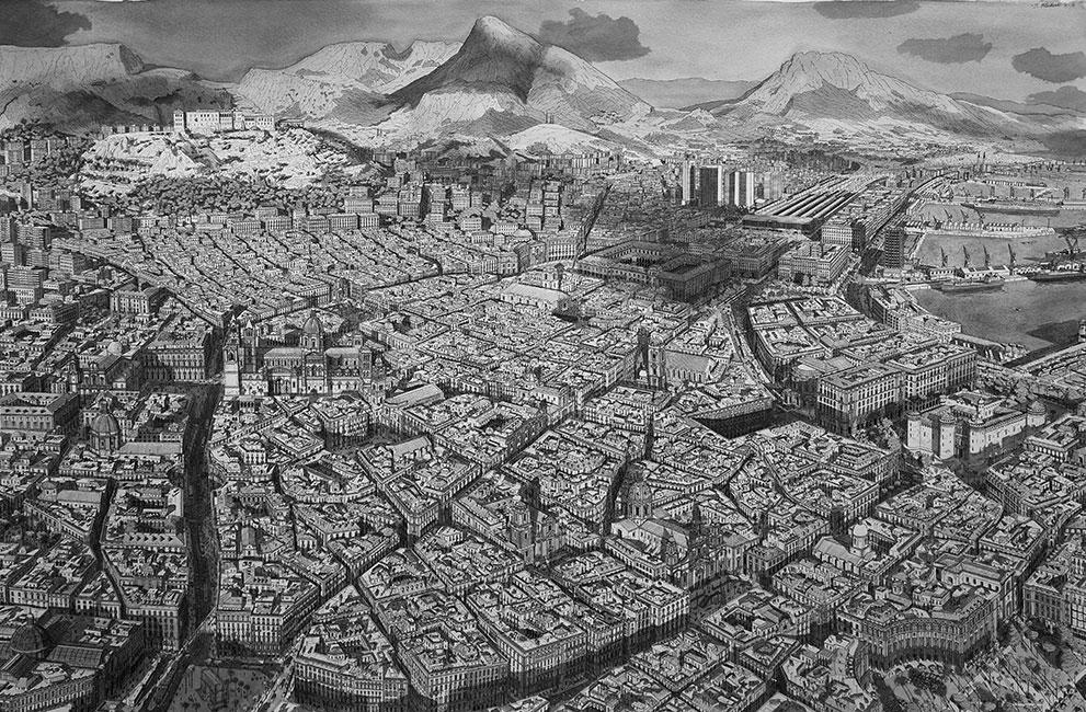 Stad in Zuid Italië / City in Southern Italy- Stefan Bleekrode