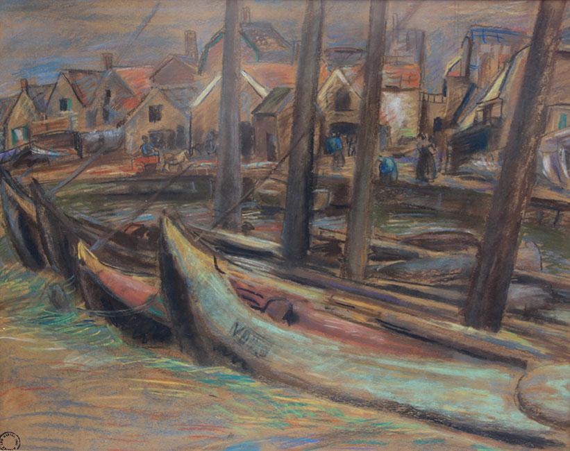 Botters in de oude haven- Leo Gestel