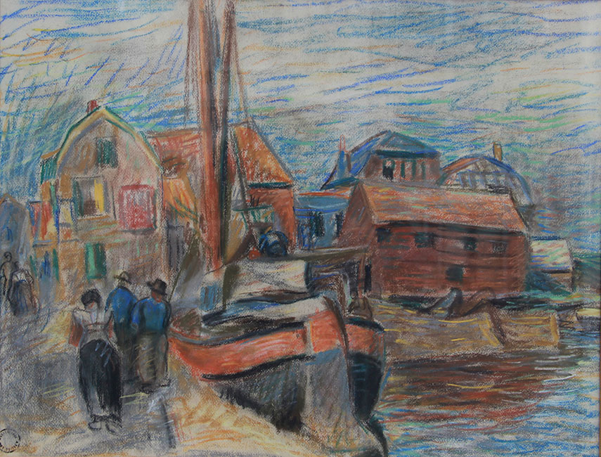 De hondenhemel in de haven van Spakenburg- Leo Gestel