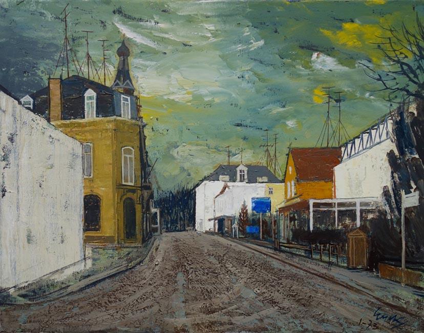 Gezicht in de Reinaldstraat te Valkenburg (L)- Charles Hubert Eyck