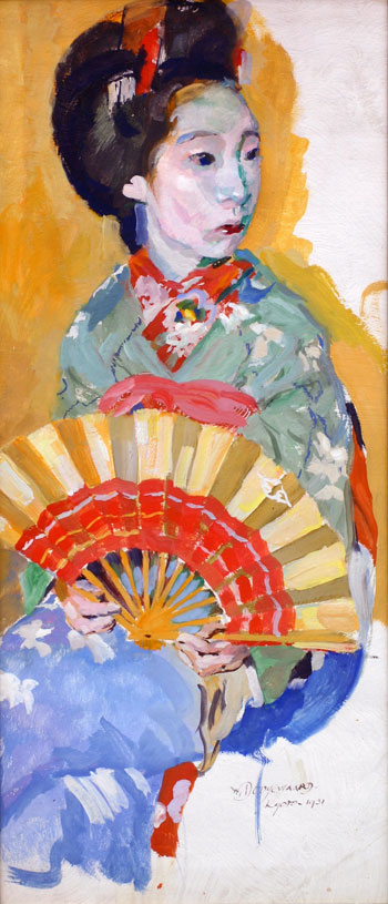 Maiko, dancing girl with fan- Willem Dooijewaard
